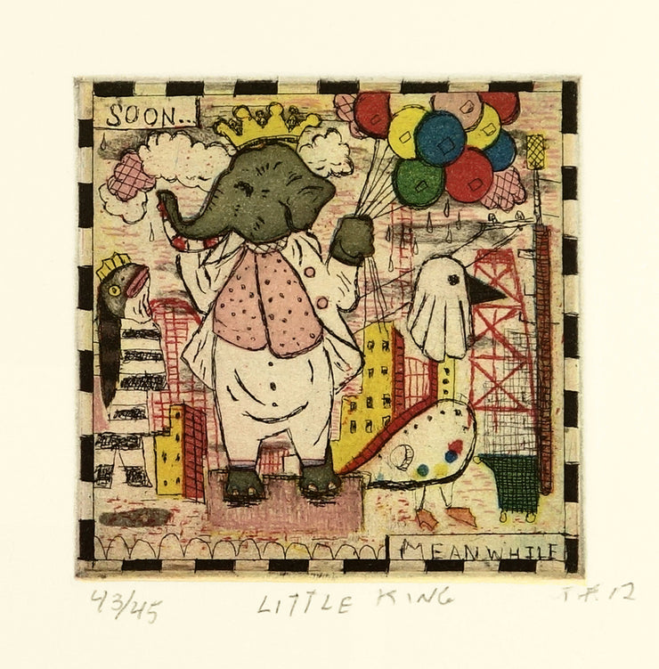 Little King by Tony Fitzpatrick - Davidson Galleries