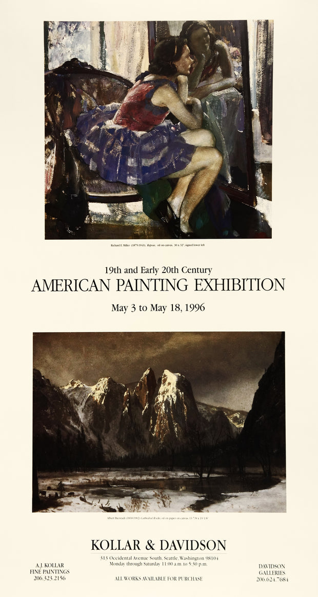American Painting Exhibition Poster by Multiple Artists - Davidson Galleries