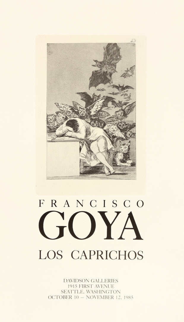 Francisco Goya Los Caprichos (Plate 43) Poster by Francisco Goya - Davidson Galleries
