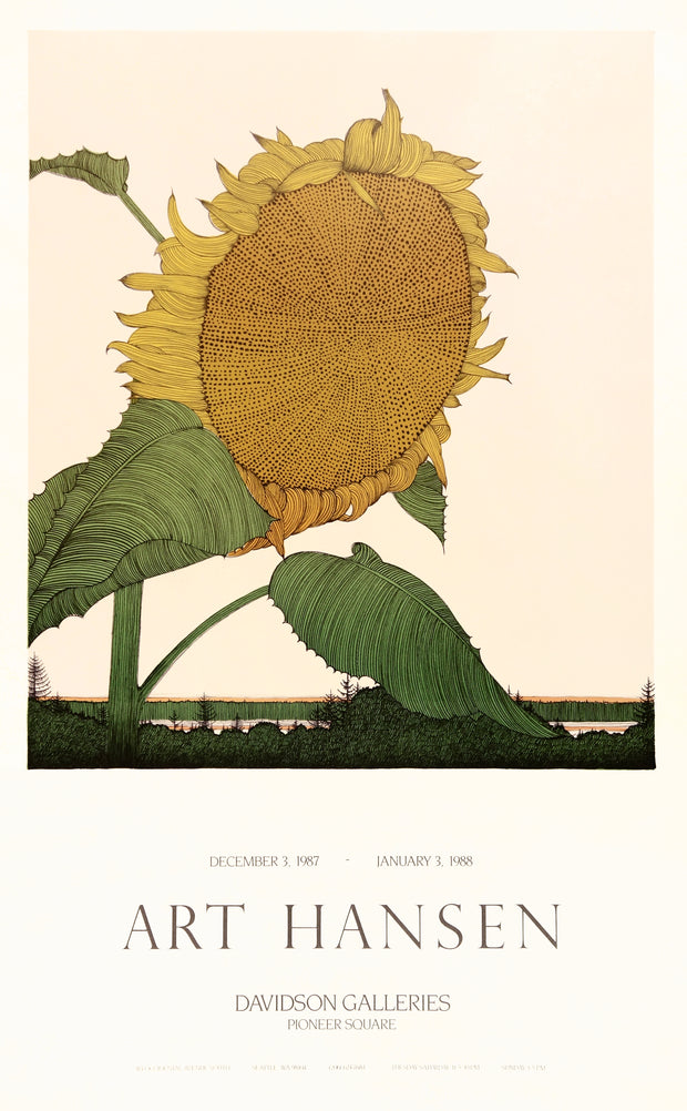 Art Hansen Sunflower Poster by Art Hansen - Davidson Galleries