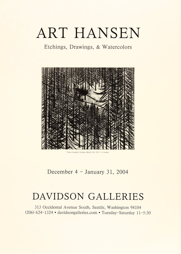 Art Hansen Etchings, Drawings, and Watercolors Poster by Art Hansen - Davidson Galleries