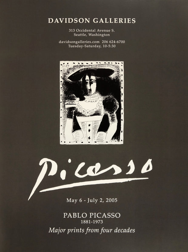 Pablo Picasso Major Prints from Four Decades Poster by Pablo Picasso - Davidson Galleries