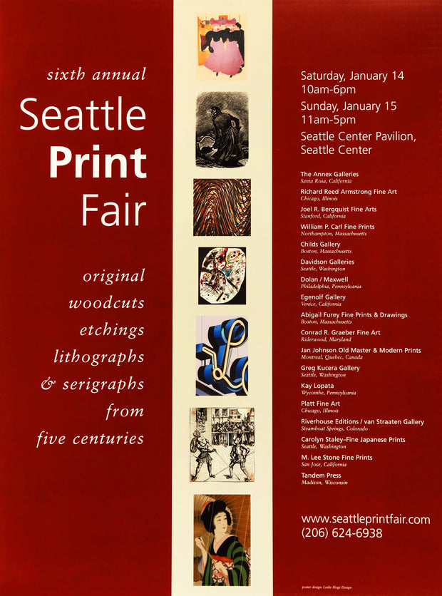 Sixth Annual Seattle Print Fair Poster by Multiple Artists - Davidson Galleries
