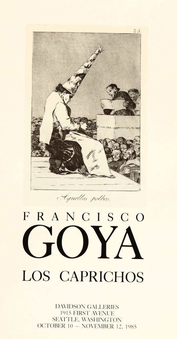 Francisco Goya Los Caprichos (Plate 23) Poster by Francisco Goya - Davidson Galleries