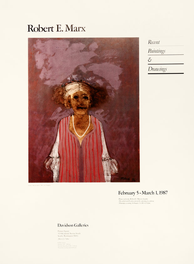 Robert E. Marx Recent Paintings and Drawings 1987 Poster by Robert Marx - Davidson Galleries