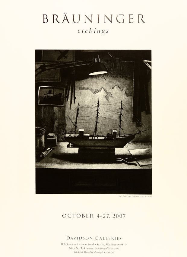 Peter Brauninger Etchings Poster by Peter Brauninger - Davidson Galleries