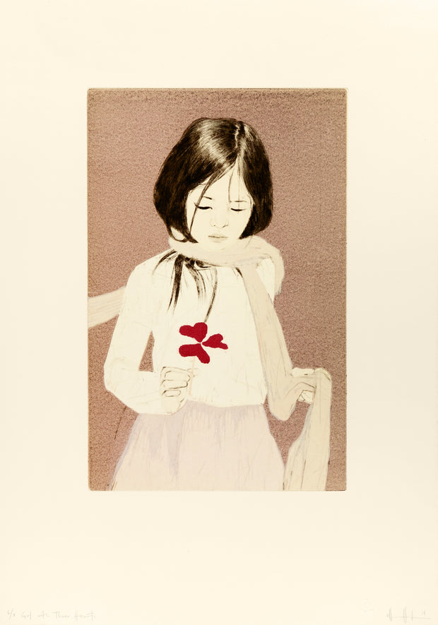 The Girl with Three Hearts by Ellen Heck - Davidson Galleries