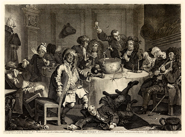 Modern Midnight Conversation by William Hogarth - Davidson Galleries