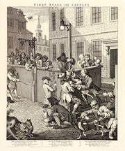 Four Stages of Cruelty (Complete set of four engravings) by William Hogarth - Davidson Galleries