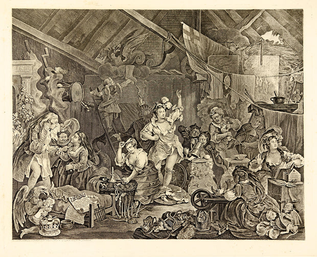 Actress Dressing in a Barn by William Hogarth - Davidson Galleries