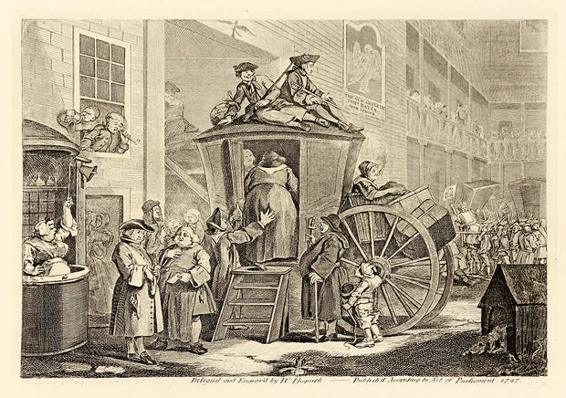 The Stagecoach (Alternate Title: The Country Inn Yard) by William Hogarth - Davidson Galleries