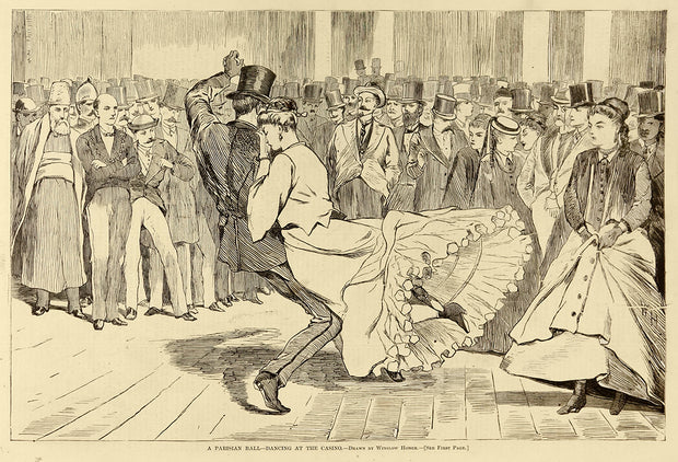 A Parisian Ball—Dancing at the Casino by Winslow Homer - Davidson Galleries