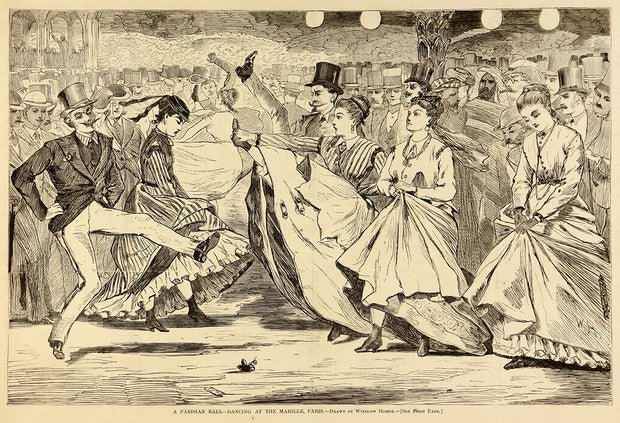 A Parisian Ball—Dancing at the Mabille, Paris by Winslow Homer - Davidson Galleries