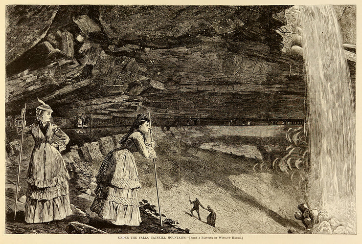 Under the Falls, Catskill Mountains by Winslow Homer - Davidson Galleries