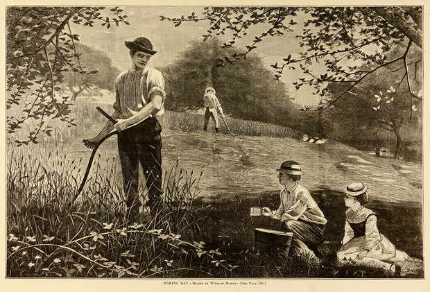 Making Hay by Winslow Homer - Davidson Galleries