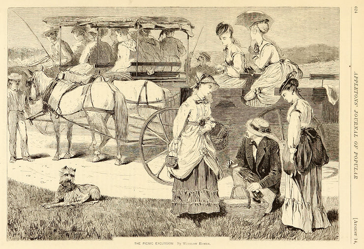 The Picnic Excursion by Winslow Homer - Davidson Galleries