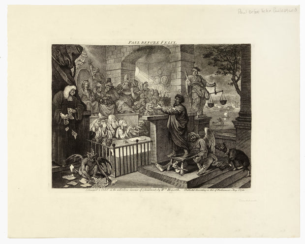 Paul Before Felix by William Hogarth - Davidson Galleries