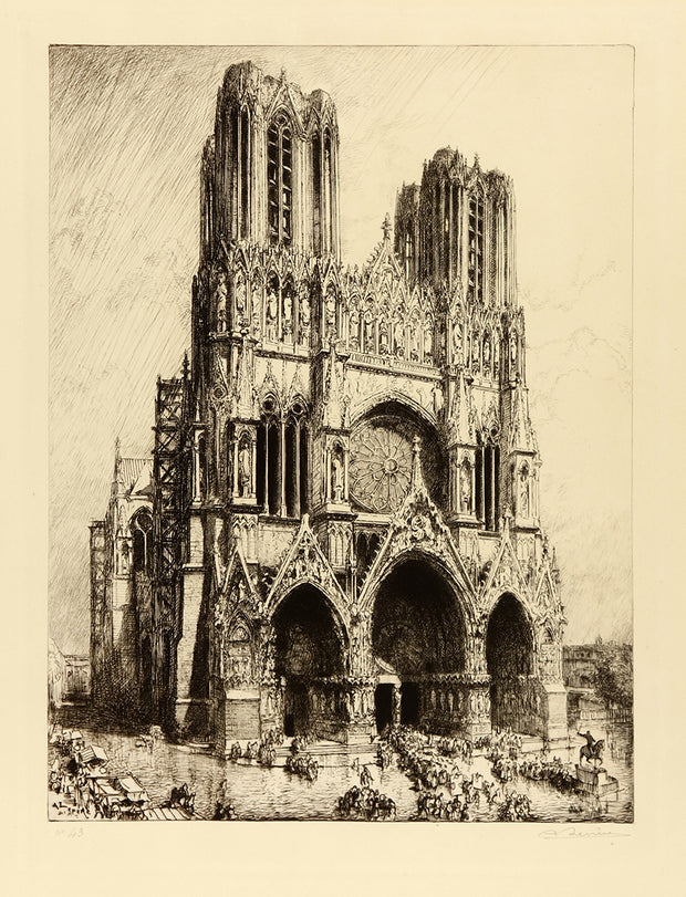 Cathedral de Reims by Auguste-Louis Lepère - Davidson Galleries