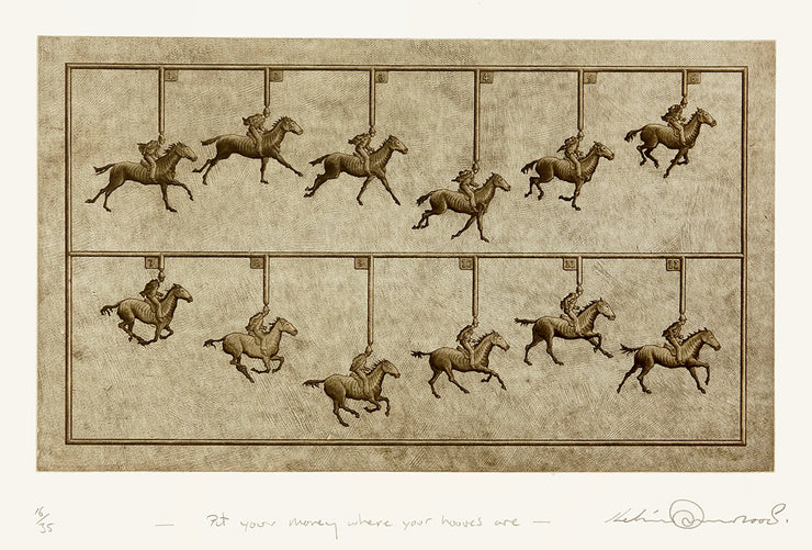 Put Your Money Where Your Hooves Are by Kelvin Mann - Davidson Galleries