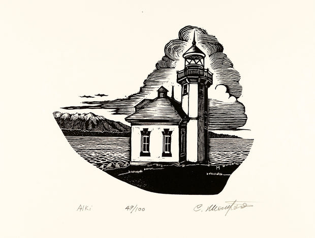 Alki Lighthouse by Carl V. Montford - Davidson Galleries