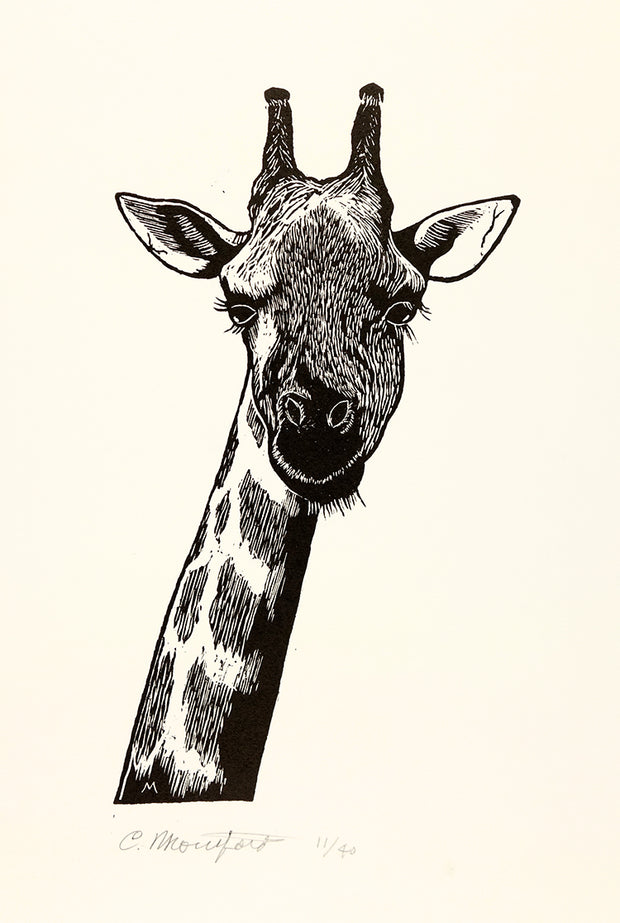 Giraffe by Carl V. Montford - Davidson Galleries