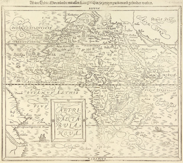 Affricae Tabula Nova by Maps, Views, and Charts - Davidson Galleries