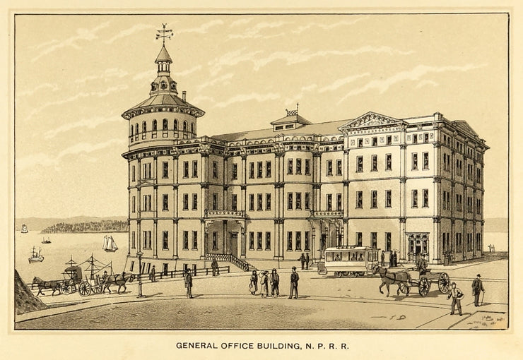 General Office Building, N.P.R.R. by Maps, Views, and Charts - Davidson Galleries