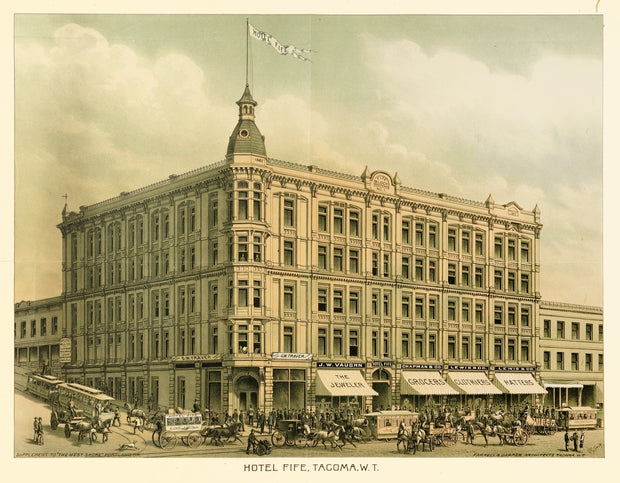 Hotel Fife (Tacoma) by Maps, Views, and Charts - Davidson Galleries