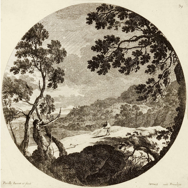 Plate 39, Le Coup de vent (The Gust of Wind) by Gabriel or Adam Perelle - Davidson Galleries
