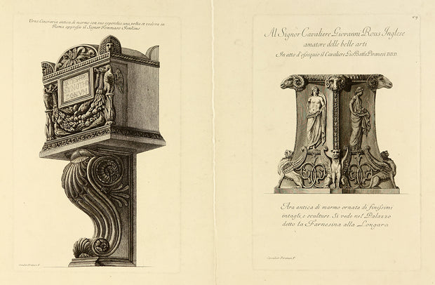 Cinerary Urn Supported on a Bracket by Giovanni Battista Piranesi - Davidson Galleries