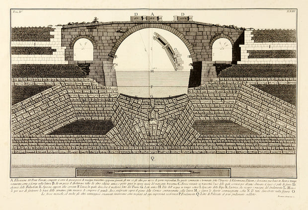 Elevazione del Ponte Ferrato (Elevation of the Ponte Ferrato) by Giovanni Battista Piranesi - Davidson Galleries