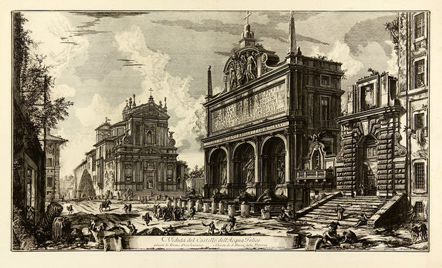 Veduta del Castello dell'Acqua Felice… (View of the Fountainhead of the Acqua Felice) by Giovanni Battista Piranesi - Davidson Galleries