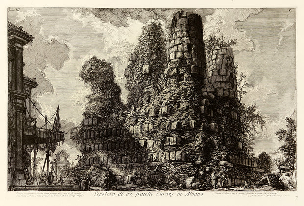 Sepolcro delle tre fratelli Curiati in Albano (Tomb of the Three Curatii Brothers in Albano) by Giovanni Battista Piranesi - Davidson Galleries