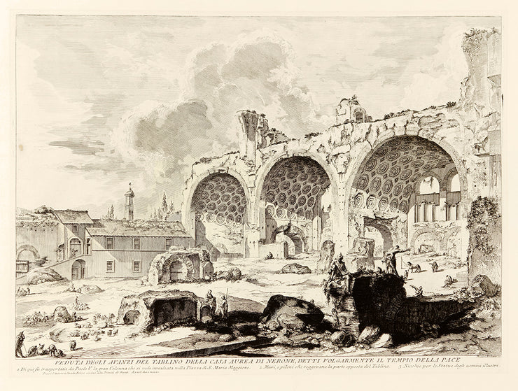 Veduta degli avanzi del Tablino della Casa Aurea di Nerone…(The Basilica of Constantine) by Giovanni Battista Piranesi - Davidson Galleries