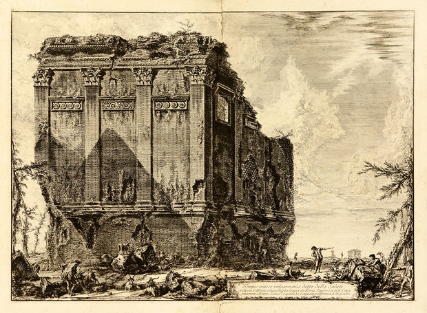 Tempio antico volgarmente detto della Salute… (Ancient Temple commonly called the Temple of Heath…) by Giovanni Battista Piranesi - Davidson Galleries