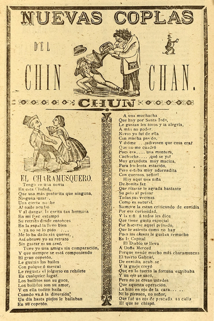 Nuevas Coplas del Chin Chan Chun (New Folk Songs) by José Guadalupe Posada - Davidson Galleries