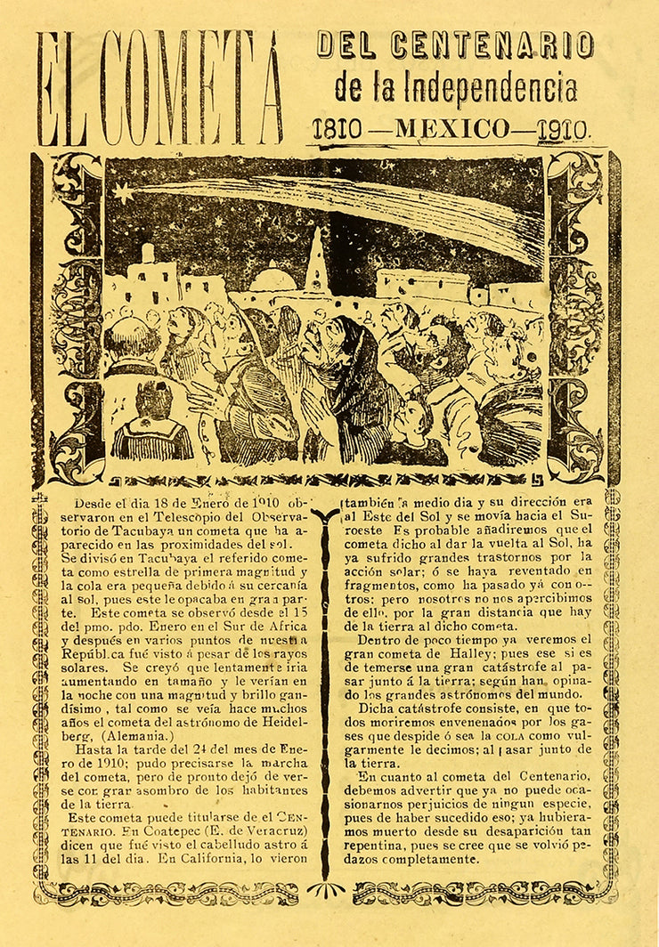 El Cometa del Centenario de la Independencia (The Comet of the Centenary of Mexico's Independence) by José Guadalupe Posada - Davidson Galleries