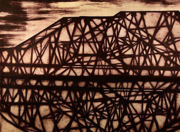 Infrastructure #1 (black) by Jenny Robinson - Davidson Galleries
