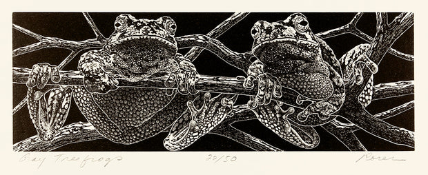 Gray Treefrogs by Abigail Rorer - Davidson Galleries