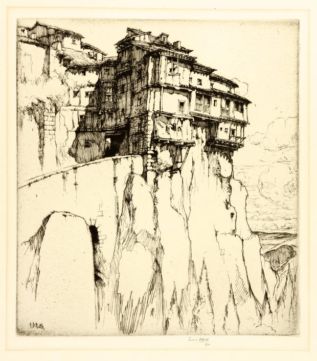 The Cliff Dwellers - Cuenca, Spain by Ernest David Roth - Davidson Galleries