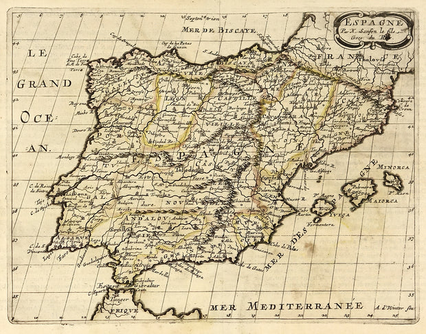 Espagne (Map of Spain) by Maps, Views, and Charts - Davidson Galleries