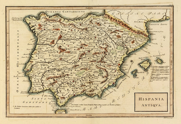 Hispanic Antiqua (Map of Spain) by Maps, Views, and Charts - Davidson Galleries
