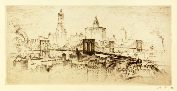 New York Bridges by Anton Friedrich Josef Schütz - Davidson Galleries