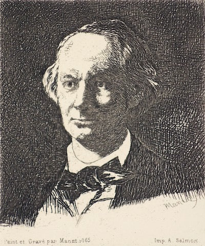 Baudelaire De Face by Edouard Manet - Davidson Galleries