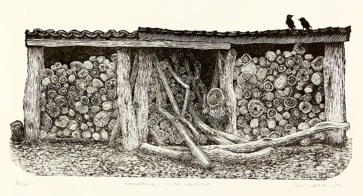 Something in the Woodshed by Geri Waddington - Davidson Galleries