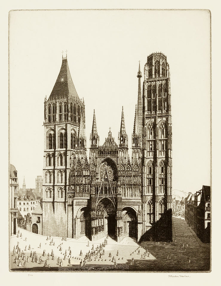 Notre Dame De Rouen by Herbert Gordon Warlow - Davidson Galleries