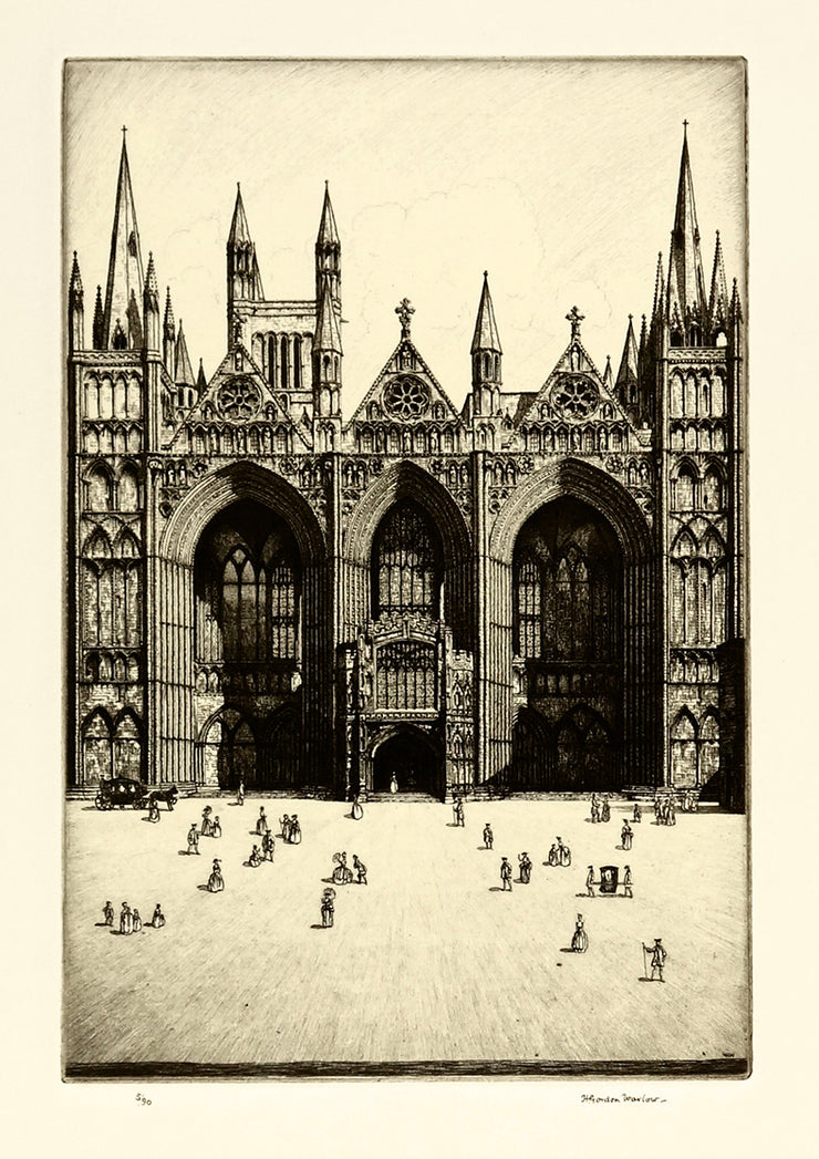 Peterborough Cathedral by Herbert Gordon Warlow - Davidson Galleries