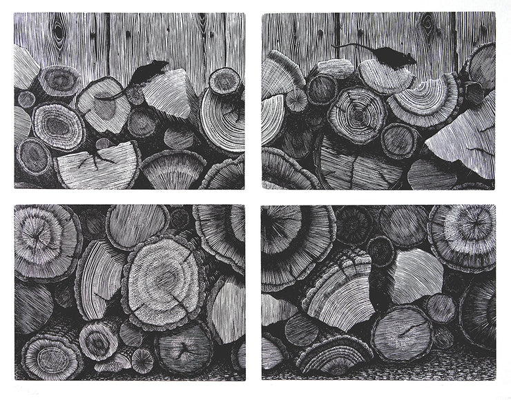 Log Pile by Geri Waddington - Davidson Galleries