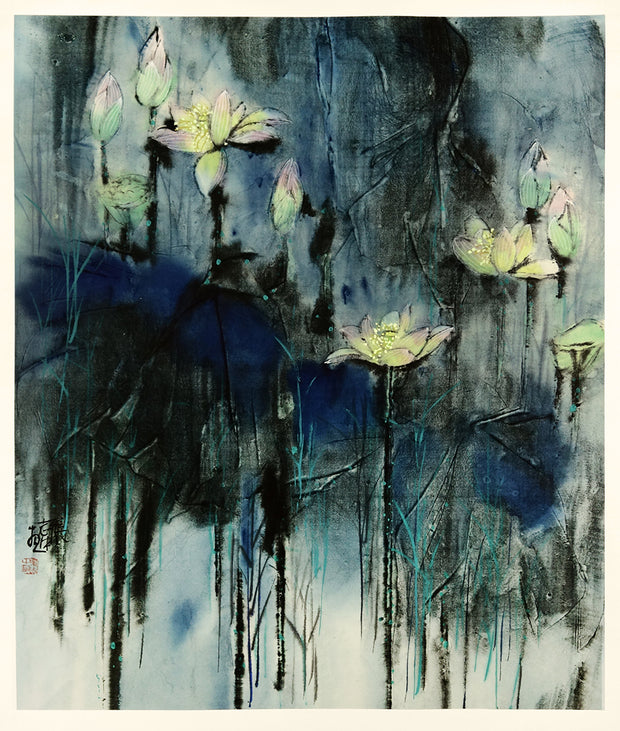 Lotuses by Zhizhong Zhang - Davidson Galleries