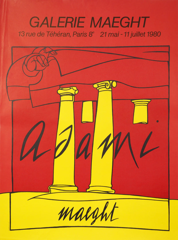 Untitled Exhibition Poster (Yellow Pillars) by Valerio Adami - Davidson Galleries